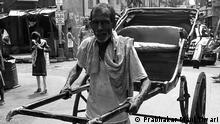Indien Kalkutta Coronavirus Rikscha