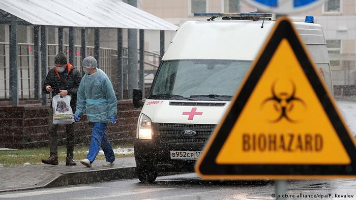 Russland Coronavirus Botkin Krankenhaus in St. Petersburg (picture-alliance/dpa/P. Kovalev)