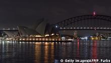 Earth Hour 2020 - Australien Oper in Sydney (Getty Images/AFP/P. Parks)