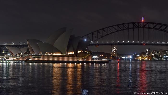 Earth Hour 2020 - Australien Oper in Sydney