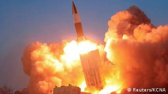 Тестовий запуск північнокорейської ракети 21 березня 2020 року