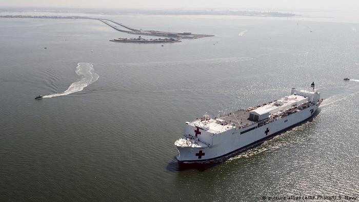 USA Corona-Pandemie Lazarettschiff Comfort