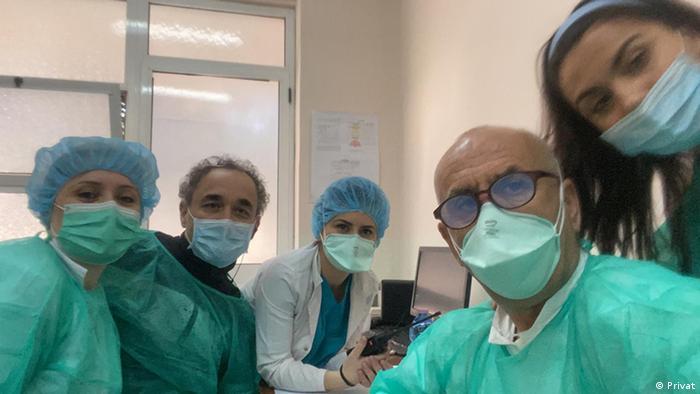Albanien Tirana - Prof. Pipero und Team im Krankenhaus