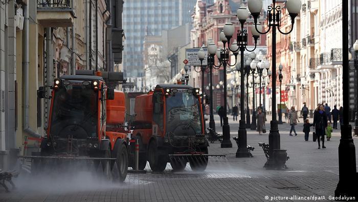 Дезинфекция на улицах Москвы
