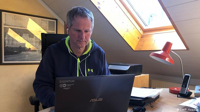 DW's Peter Koppen working from home