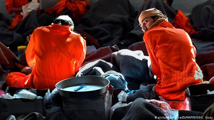 Prisoners in Hasakah jail in November 2019