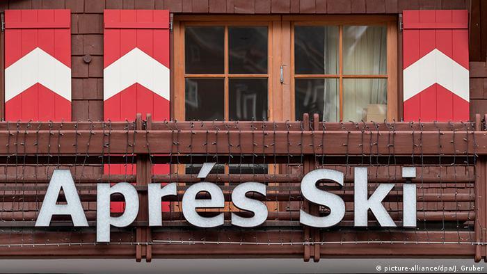 An apres ski bar in Ischgl, Austria