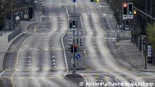 BdTD Straße in Bern Schweiz Corona
