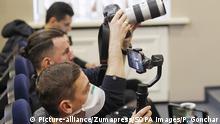 Ukraine Journalist Schutzmasken