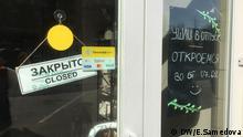 Russland geschlossene Geschäfte und Freizeitparks
