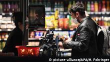 Österreich Supermarkt in der Coronakrise