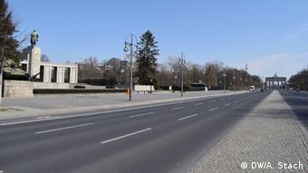 Пустые улицы Берлина