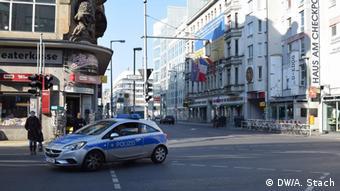 Пустые улицы в центре Берлина