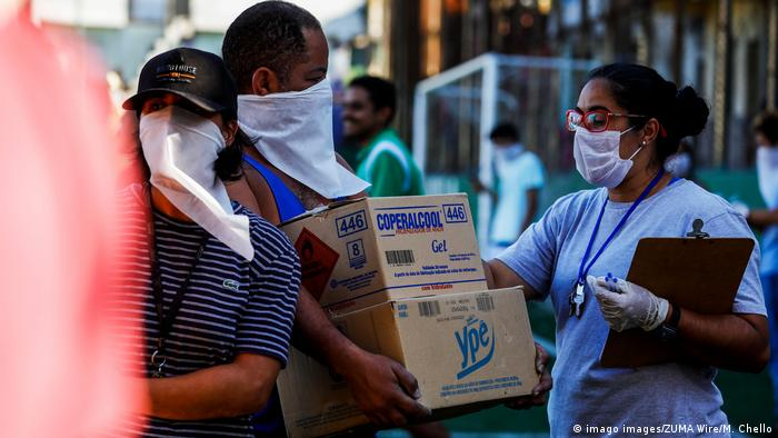 Residents of the PARAISOPOLIS slum in the Sao Paulo city received medical orientations about coronavirus prevention