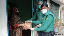 Bangladesh Opfer der Corona-Krise erhalten Unterstützung in Dhaka