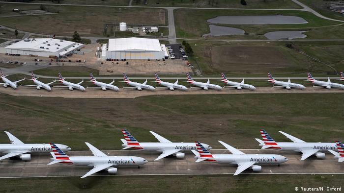 Coronavirus | Flugzeuge | Flughafen Tusla (Reuters/N. Oxford)