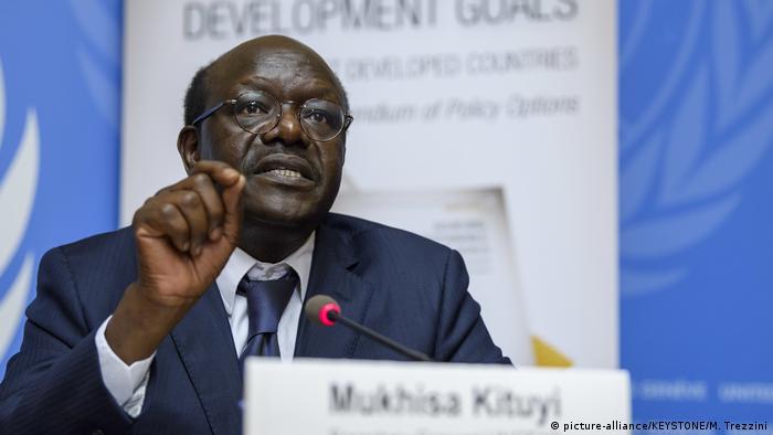 UNCTAD-Generalsekretär Mukhisa Kituyi (picture-alliance/KEYSTONE/M. Trezzini)