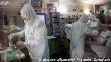 Spanien Badalona | Coronavirus | Intensivstation Krankenhaus