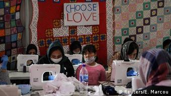 Griechenland Flüchtlingslager Moria | Coronavirus (Reuters/E. Marcou)