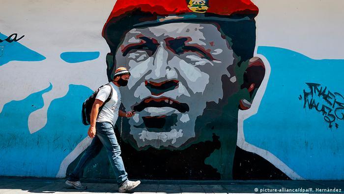 Venezuela Caracas | Coronavirus | Mann mit Mundschutz