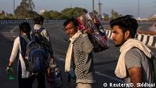 Indien Coronavirus Wanderarbeiter flüchten in ihre Heimatdörfer