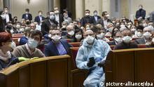 Coronavirus - Ukraine Parlament Kiew