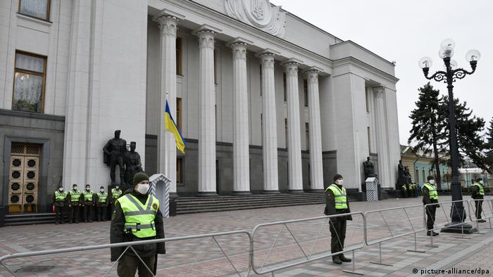 Ukraine Coronavirus Parlamentsgebäude Parlament (picture-alliance/dpa)