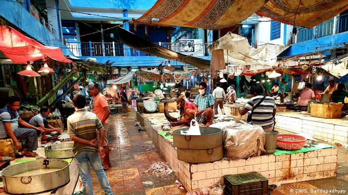 A wet market in India