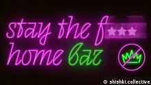 StaytheFuckHome Bar Logo Stay the Fuck Home Bar in neon