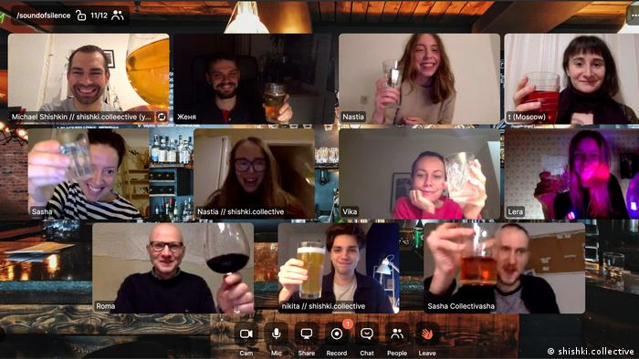 Bar patrons drink together at the STFH Bar online