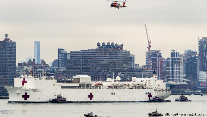 Корабель-госпіталь в затоці Нью-Йорка