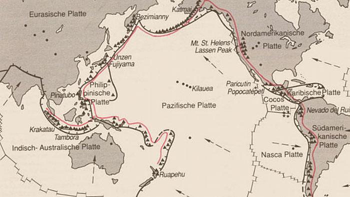 Karte Pazifischer Feuerring