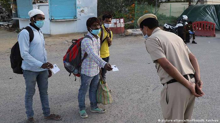 Global Ideas Indien Coronavirus Lockdown in Neu-Delhi