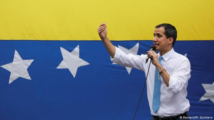 Председатель Национальной ассамблеи Венесуэлы Хуан Гуайдо, признанный более чем 50 государствами временным президентом страны