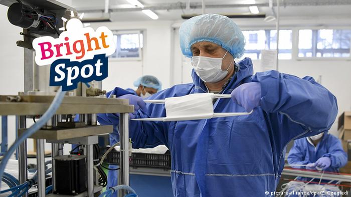 Coronavirus Mundschutz Produktion Lichtblick Bright Spot