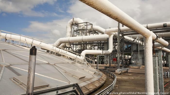 The odour suppresant plant at Daveyhulme wastewater treatment plant in Manchester, UK.
