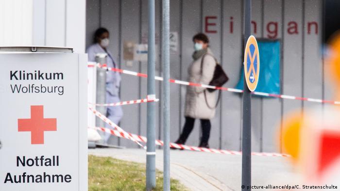 Через інфікування коронавірусом лікарів ця клініка у Вольфсбурзі обмежила прийом пацієнтів