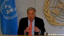 UN Covid-19 Virtuelle Pressekonferenz António Guterres