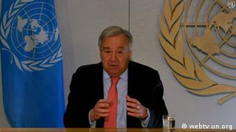 UN Covid-19 Virtuelle Pressekonferenz António Guterres (webtv.un.org)