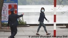 Coronavirus Vietnam Hanoi Straßenszene
