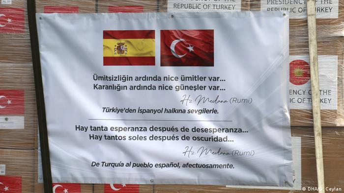 Coronavirus: Medizinische Hilfe aus der Türkei für Spanien und Italien