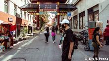 Mexiko Straßenverkäufer stehen vor dem Nichts