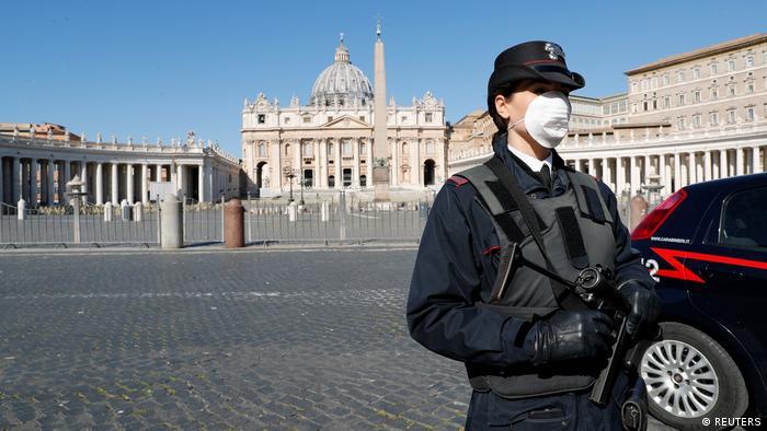 Coronavirus Italien Rom Vatikan Petersplatz (REUTERS)