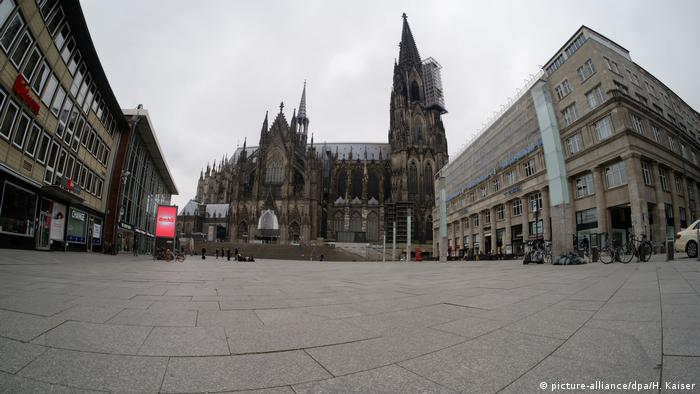 Cologne Cathedral is a dead zone during the pandemic