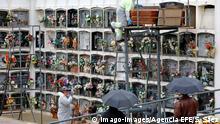 Spanien Corona-Pandemie Beerdigung in Santa Margarida de Montbui