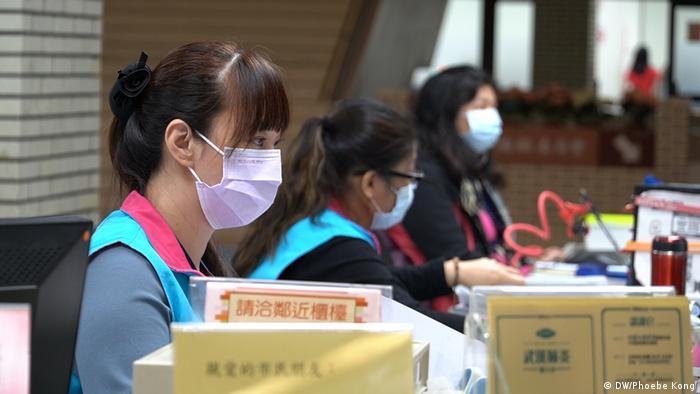 Taiwan Produktion von Schutzmasken (DW/Phoebe Kong)