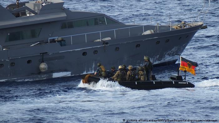 قوات ألمانية مشاركة في بعثة إيريني لمراقبة حظر الأسلحة المفروض على ليبيا