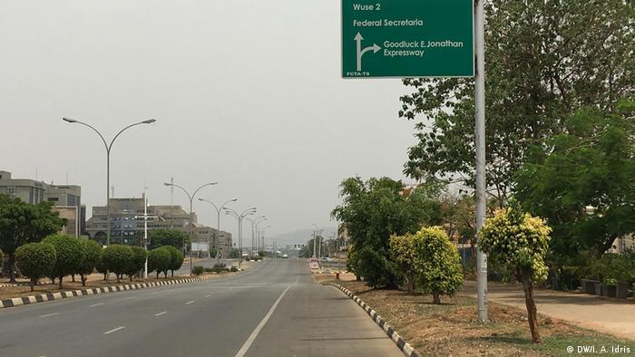 Empty road in Abuja