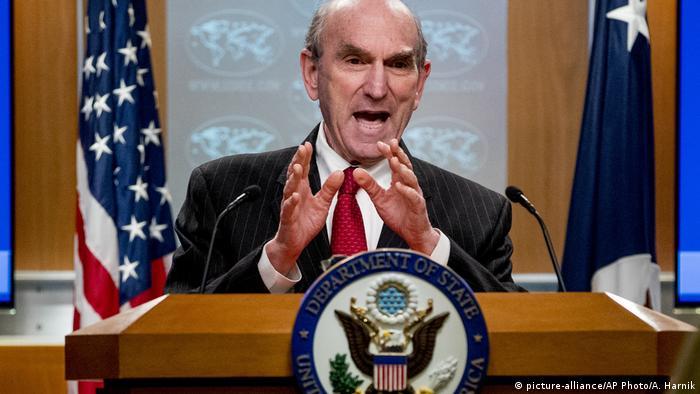 Sonderbeauftragter für Venezuela Elliott Abrams (picture-alliance/AP Photo/A. Harnik)