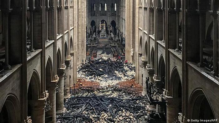 Notre Dame depois do incêndio